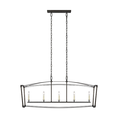 Thayer Smith Steel Five-Light Chandelier