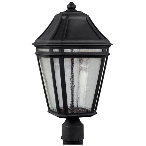 Londontowne Black One-Light 20-Inch Integrated LED Outdoor Post Mount