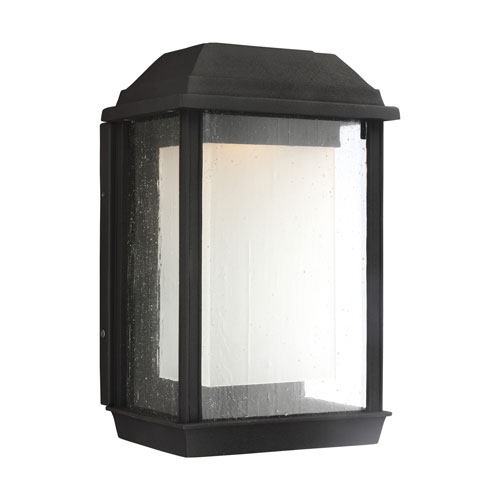 Feiss McHenry Textured Black 13-Inch LED Outdoor Wall Sconce