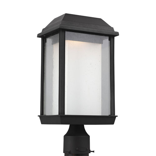 McHenry Textured Black LED Outdoor Post Mount