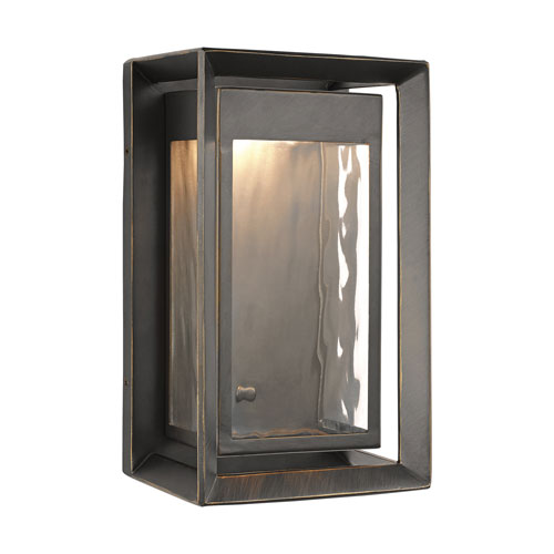Urbandale Antique Bronze 10-Inch LED Outdoor Wall Sconce