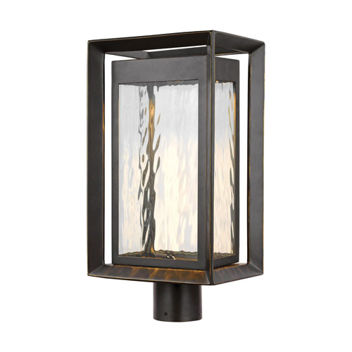 Urbandale Antique Bronze LED Outdoor Post Mount