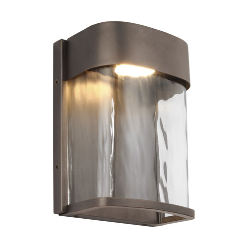 Bennie Antique Bronze Eight-Inch LED Outdoor Wall Sconce