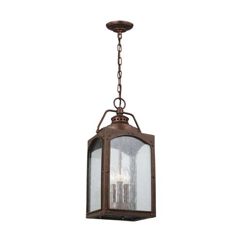 Randhurst Copper Oxide Three-Light Outdoor Pendant