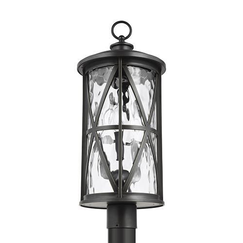 Millbrooke Antique Bronze Three-Light Outdoor Post Lantern
