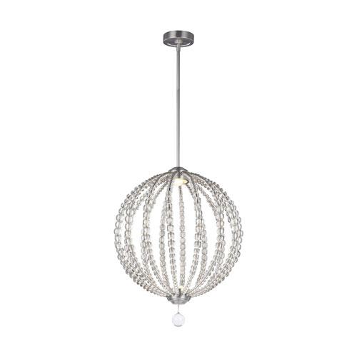 Oberlin Satin Nickel 20-Inch LED Globe Pendant