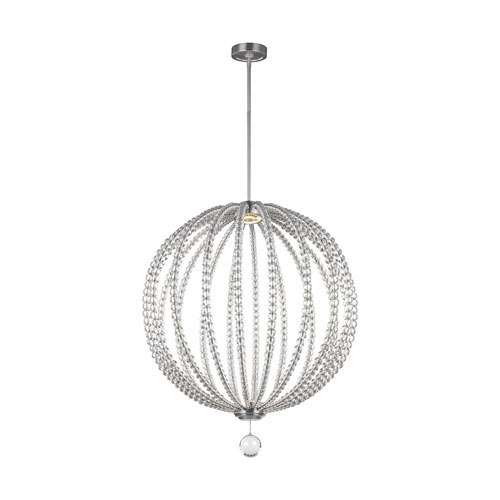 Oberlin Satin Nickel 32-Inch LED Globe Pendant