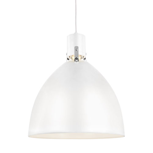Brynne Flat White 17-Inch LED Dome Pendant