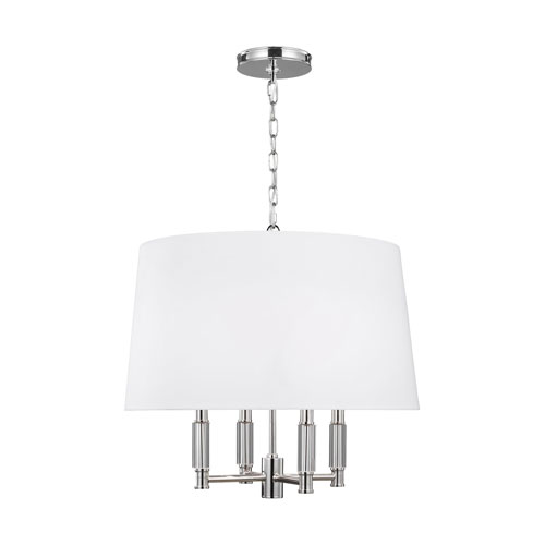 Lismore Polished Nickel Four-Light Pendant