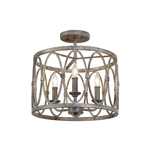 Patrice Deep Abyss Three-Light Semi-Flush Mount