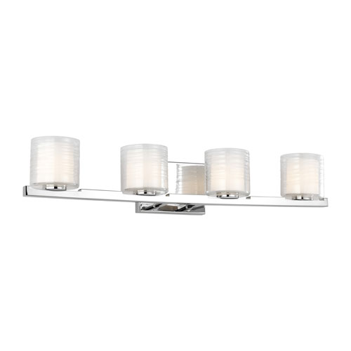 Volo Chrome Four-Light Bath Vanity