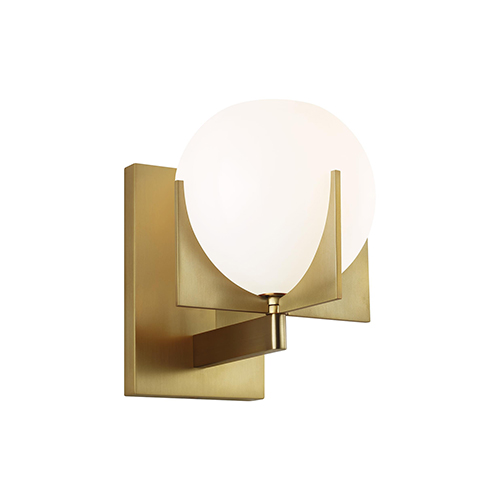 Abbott Burnished Brass One-Light Wall Sconce