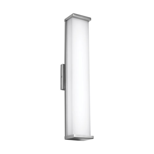 Feiss Altron Polished Stainless Steel 24-Inch LED Outdoor Wall Sconce