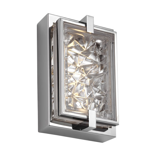 Erin Polished Stainless Steel Nine-Inch LED Bath Sconce