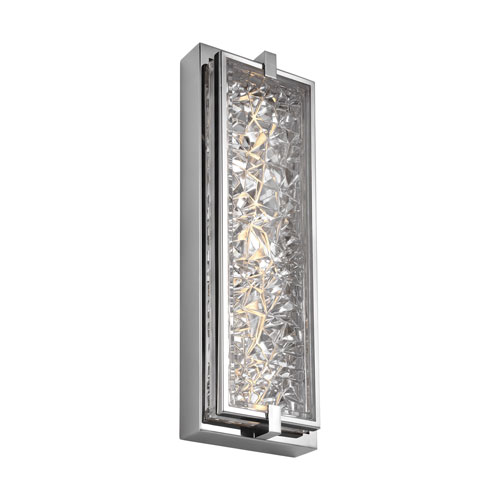 Erin Polished Stainless Steel 19-Inch LED Bath Sconce