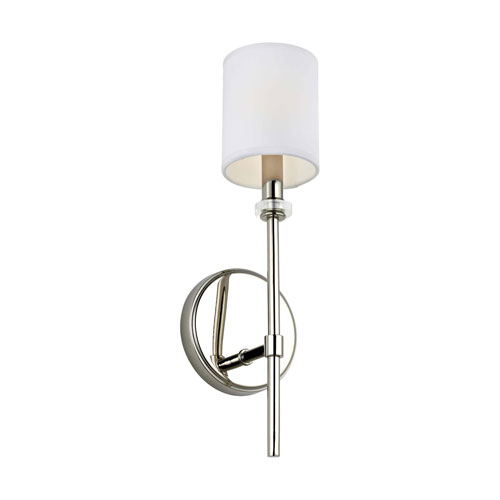 Bryan Polished Nickel One-Light Bath Wall Sconce