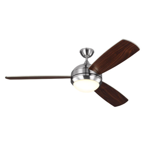 Discus Trio Max Brushed Steel 58-Inch LED Ceiling Fan