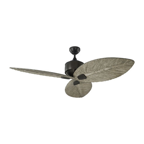 Monte Carlo Delray Aged Pewter 56-Inch Outdoor Ceiling Fan
