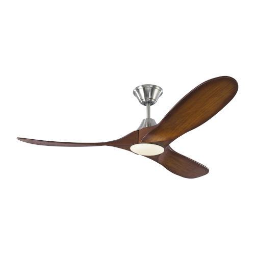 Maverick Brushed Steel Koa 52-Inch LED Ceiling Fan