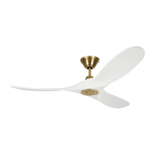 Maverick II Matte White with Burnished Brass 52-Inch Ceiling Fan