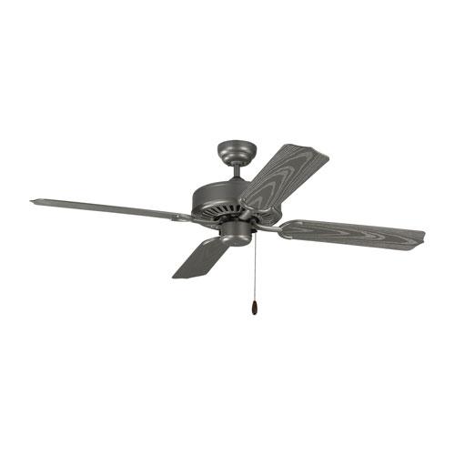 Tucker Painted Brushed Steel 52-Inch Outdoor Ceiling Fan
