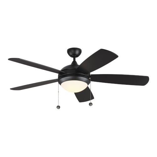 Discus Matte Black 52-Inch LED Ceiling Fan