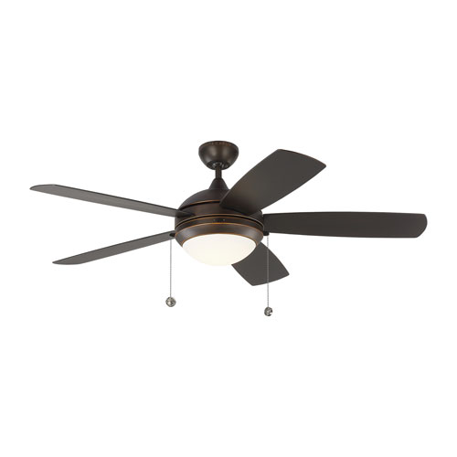 Discus Outdoor Roman Bronze 52-Inch LED Outdoor Ceiling Fan