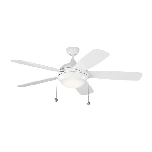 Monte Carlo Discus Outdoor White 52 Inch Led Ceiling Fan