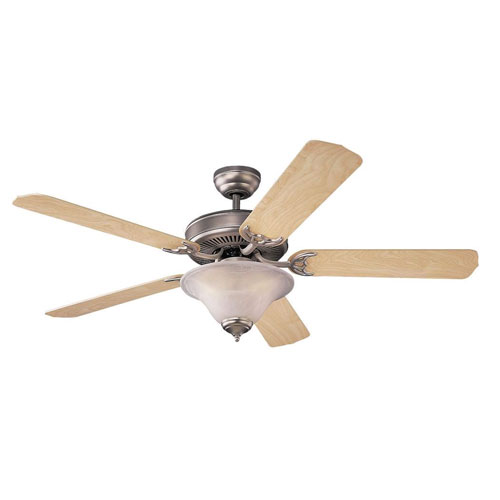 Homeowners Deluxe Natural Walnut Blade 52-Inch Ceiling Fan