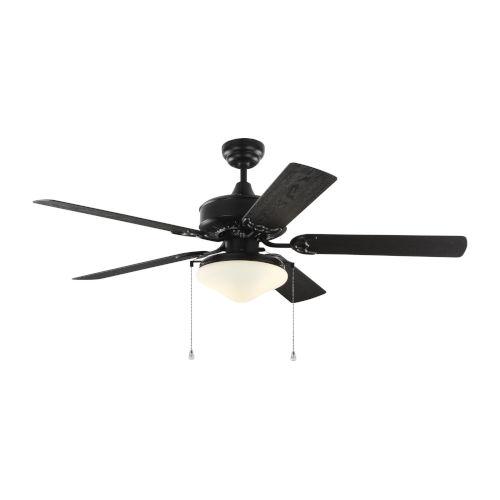 Haven Matte Black 52-Inch LED Outdoor Ceiling Fan