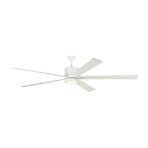 Vision Matte White 84-Inch LED Ceiling Fan