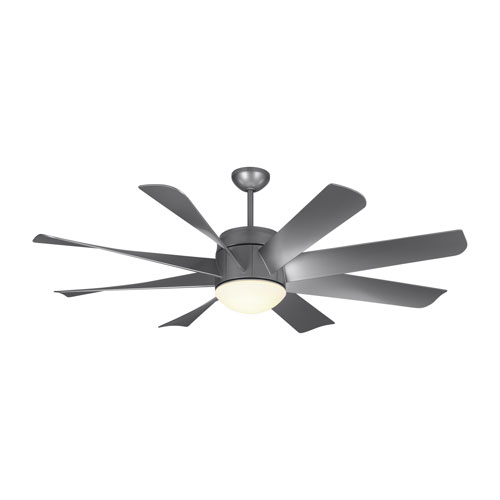 Monte Carlo Turbine LED Painted Brushed Steel 56-Inch LED Ceiling Fan