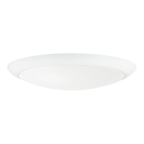 Matte White 12-Inch Fan Light Kit