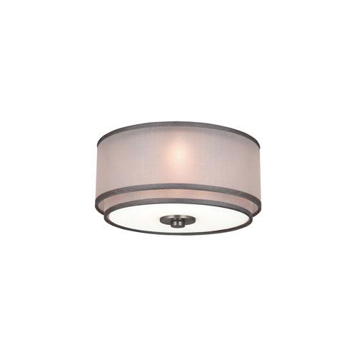 Brushed Steel 3-Light Ceiling Fan Light Kit