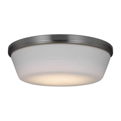 Dover Brushed Steel 11-Inch LED Fan Light Kit