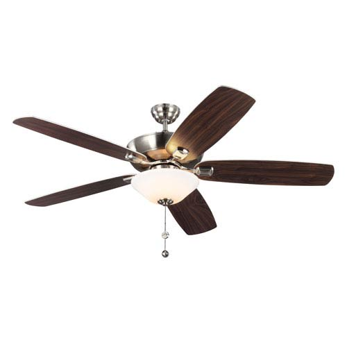 Colony Super Max Plus Brushed Steel 60-Inch Three-Light Ceiling Fan