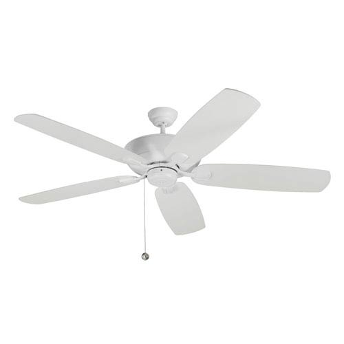 Colony Super Max 60-Inch Rubberized White Ceiling Fan