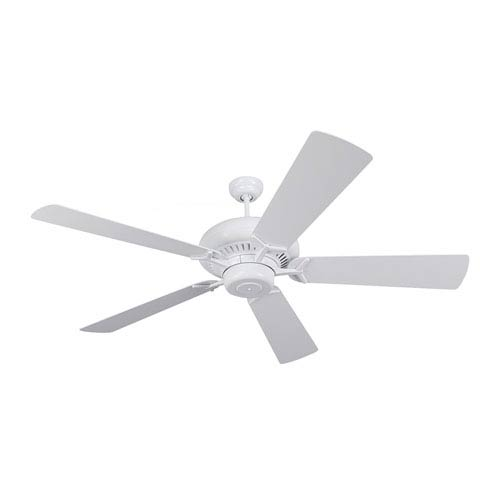 Monte Carlo Grand Prix 60-Inch White Energy Star Ceiling Fan