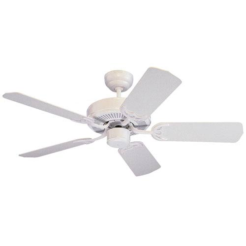Monte Carlo Homeowners Select 42-Inch White Ceiling Fan