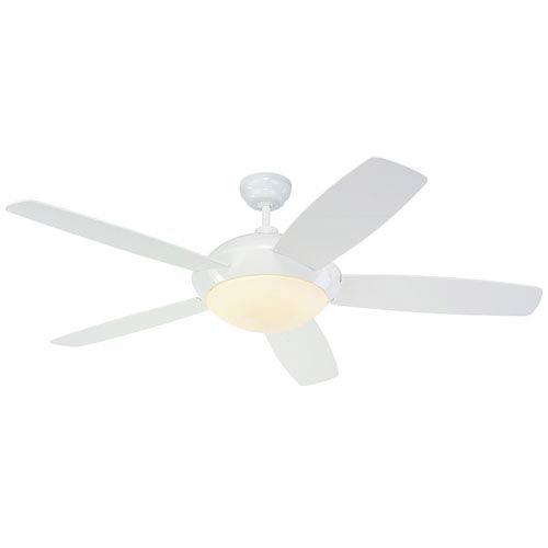 Monte Carlo Sleek 52-Inch White Ceiling Fan