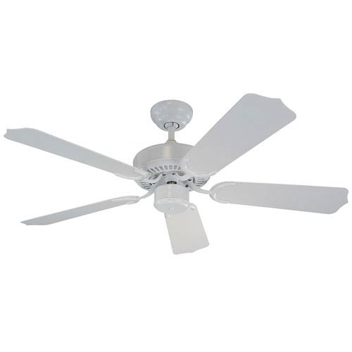 Monte Carlo Weatherford Ii 42 Inch White Outdoor Ceiling Fan With Abs Blades