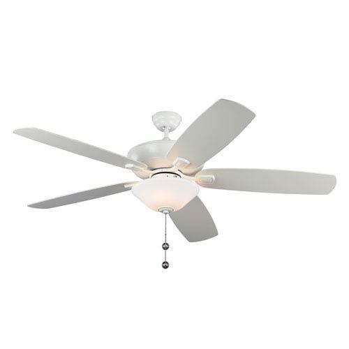 Colony Super Max Plus Rubberized White 60-Inch Three-Light Ceiling Fan