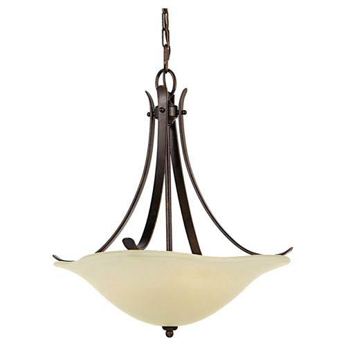 Feiss Morningside Grecian Bronze Three-Light Uplight Pendant