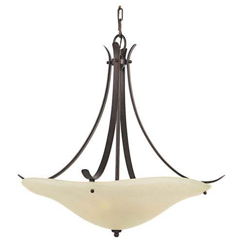 Feiss Morningside Grecian Bronze Three-Light Bowl Pendant