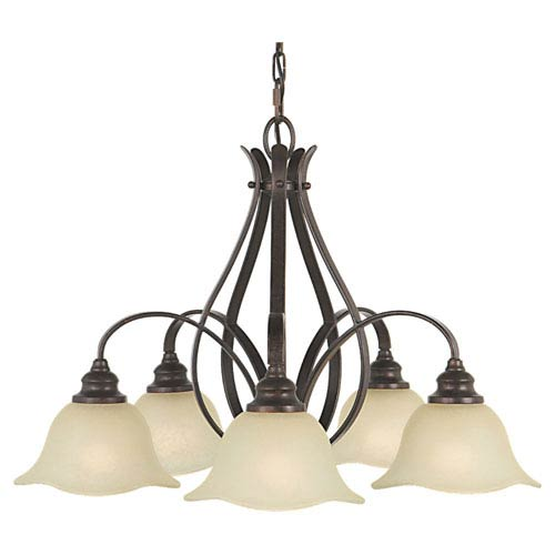Feiss Morningside Grecian Bronze Five-Light Chandelier