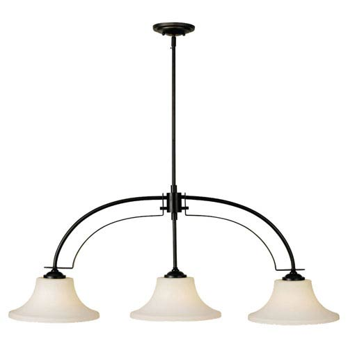 Feiss Barrington Oil Rubbed Bronze Three-Light Island Pendant