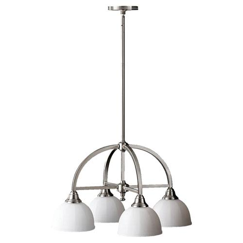 Feiss Perry Brushed Steel Four-Light Chandelier