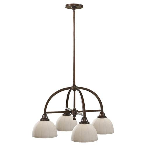 Feiss Perry Heritage Bronze Four-Light Chandelier