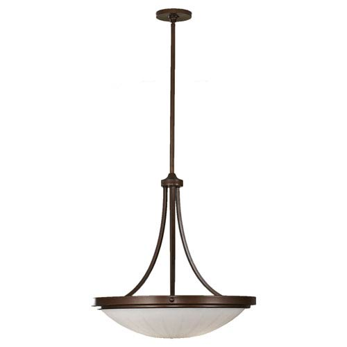 Feiss Perry Heritage Bronze Three-Light Uplight Pendant