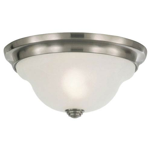 Feiss Vista Brushed Steel Indoor Flush Mount Fixture